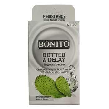 کاندوم بونیتو مدل Dotted & Delay بسته 12 عددی