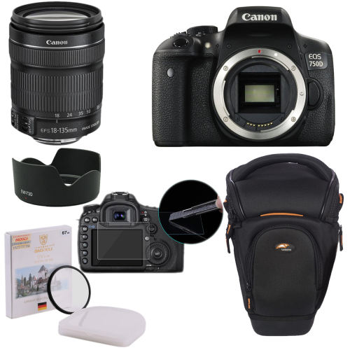 پک دوربین عکاسی کانن 750D به همراه لنز 18_135 STM