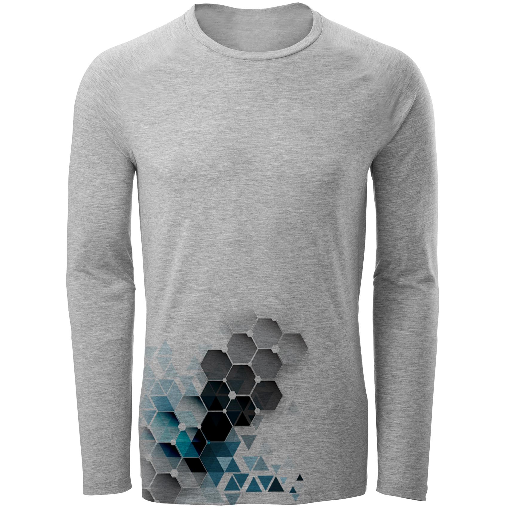 قیمت تیشرت آستین بلند مردانه مدل انتزاعی3 کد A16