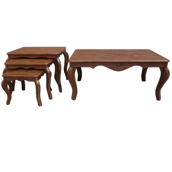میز جلو مبلی و مجموعه 3 عددی میز عسلی مدل وکیم ونیزG