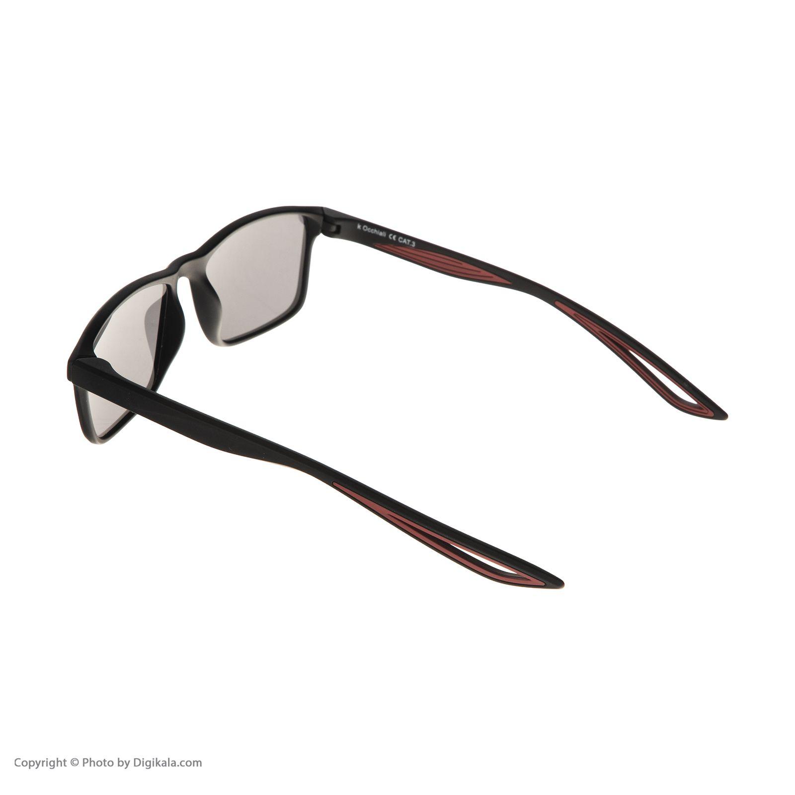 عینک آفتابی مردانه اوکیالی مدل sp4181C2 -  - 4