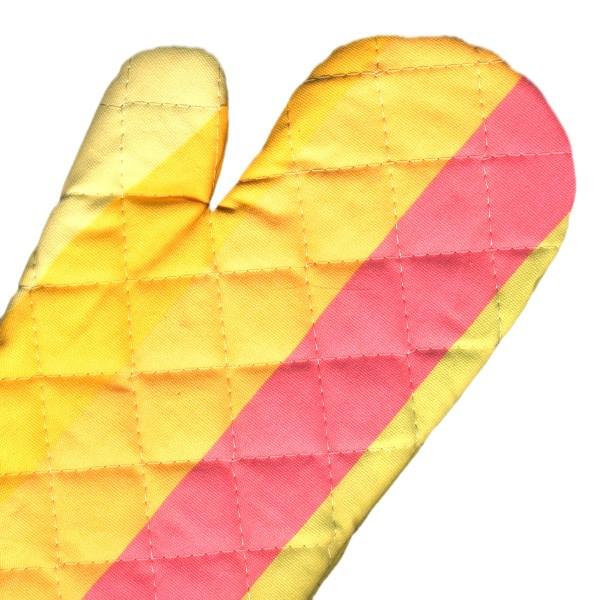 دستکش فر کتان 31 × 14 رزین تاژ طرح رابید صورتی
