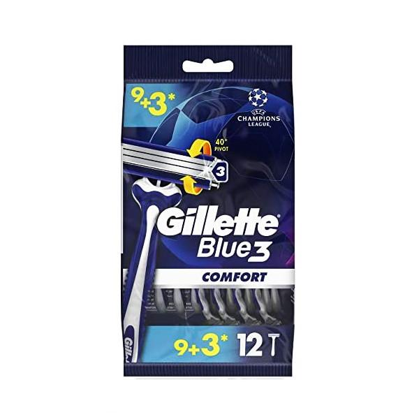 خود تراش ژیلت مدل Blue3 Comfort  بسته 12 عددی