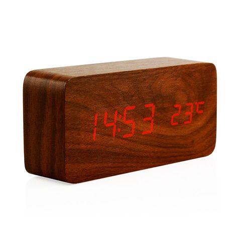 ساعت رومیزی مدل Wooden 862BRed upgrade version