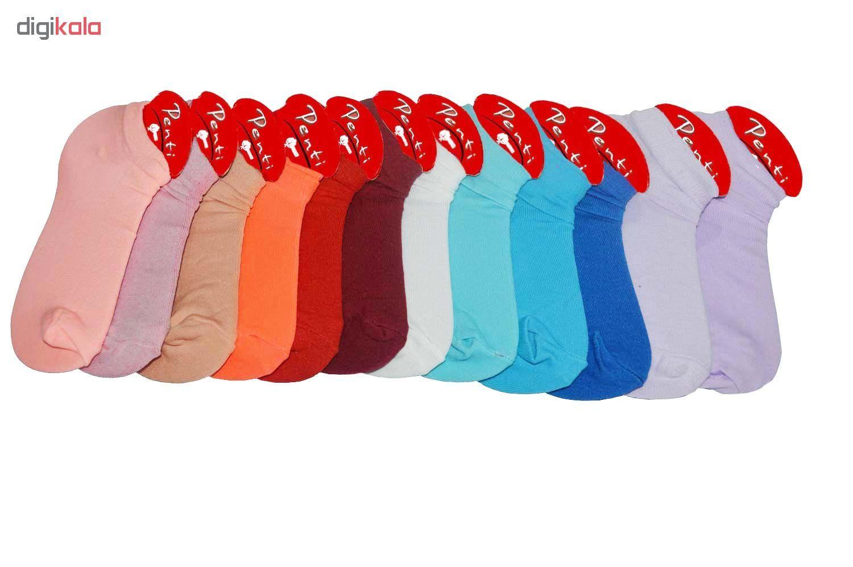 جوراب زنانه پنتی کد521 مجموعه 12عددی main 1 6