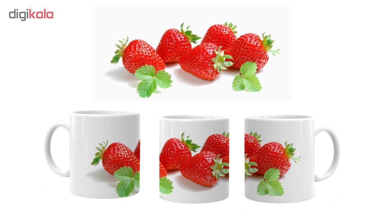 ماگ طرح توت فرنگی m58 main 1 1