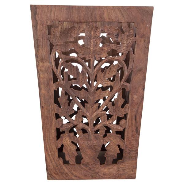 سطل چوبی منبت کاری هندی k2020