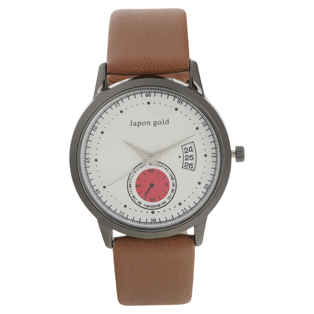ساعت مچی عقربه ای ژاپن گلد مدل Zm01 46