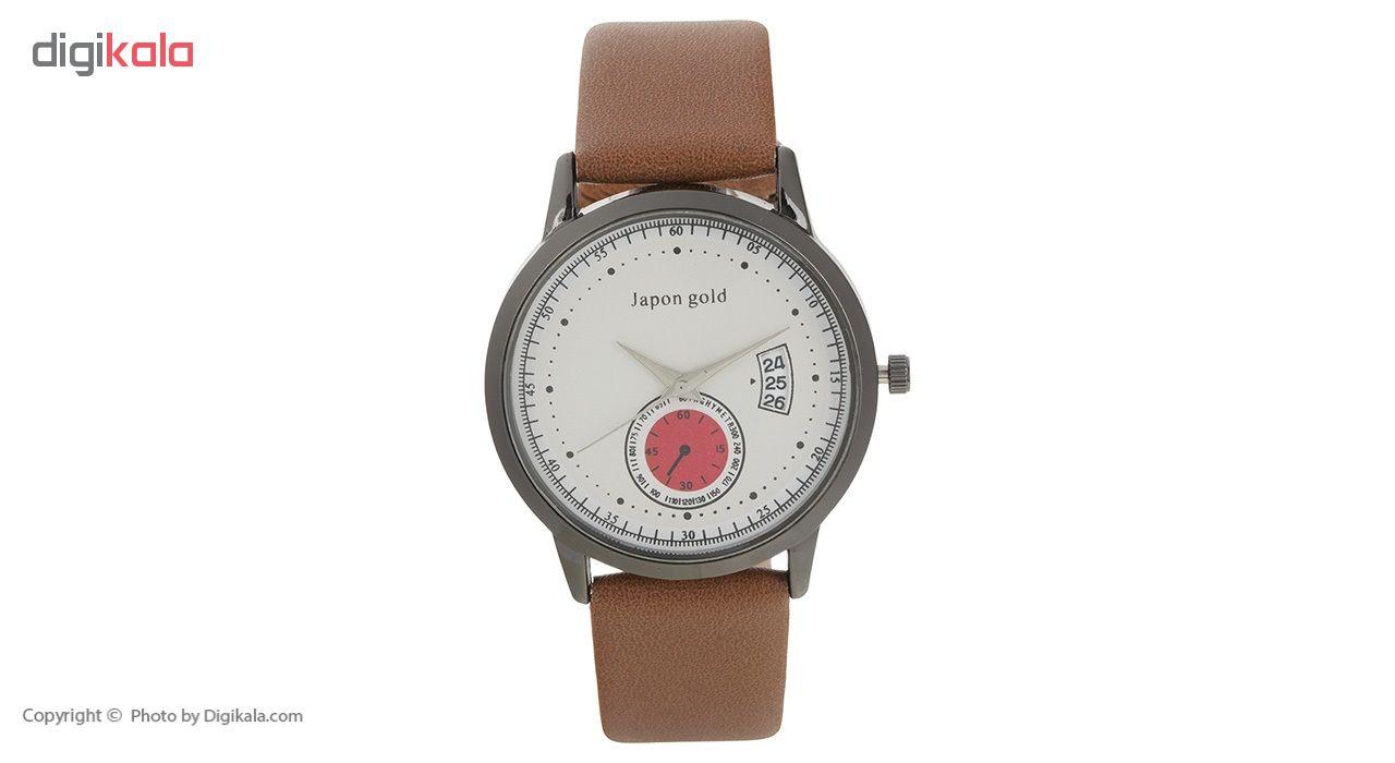 ساعت مچی عقربه ای ژاپن گلد مدل Zm01