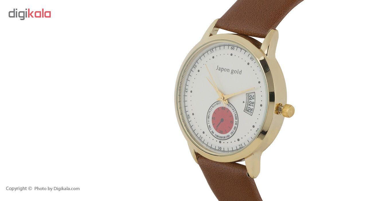 ساعت مچی عقربه ای ژاپن گلد مدل Zm02