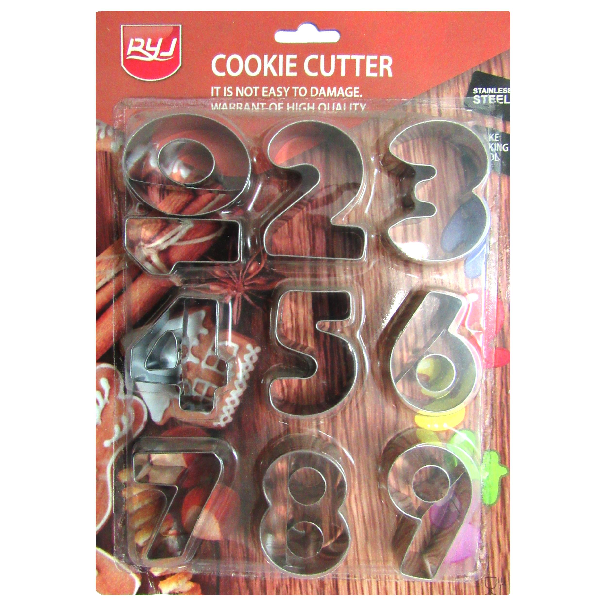 کاتر شیرینی پزی اعداد مدل Cookie Cutter مجموعه 10 عددی به همراه جا کلیدی برج ایفل