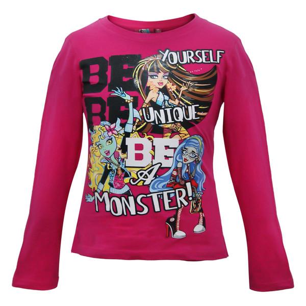 تی شرت آستین بلند دخترانه مانستر های مدل 594386