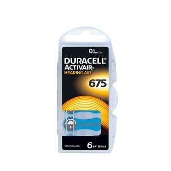 باتری سمعک دوراسل شماره 675 بسته 6 عددی | Duracell hearing aid battery No.675  pack of 6