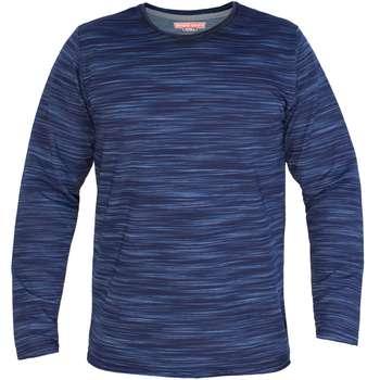 تی شرت آستین بلند مردانه سیمپل ورز طرح خط خطی-Blue |