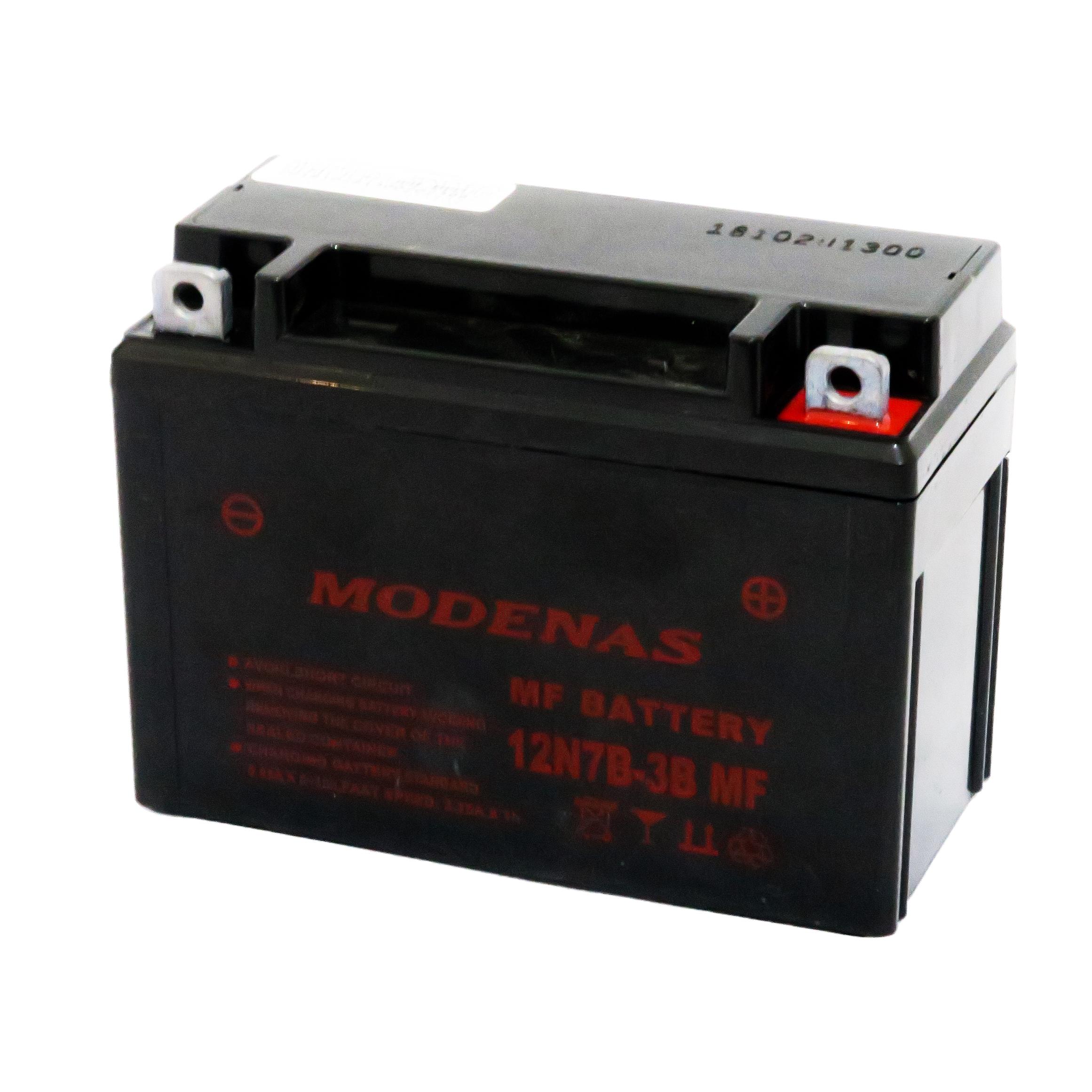 باتری موتور سیکلت مودناس مدل 12V7 مناسب برای طرح هندا استارتی