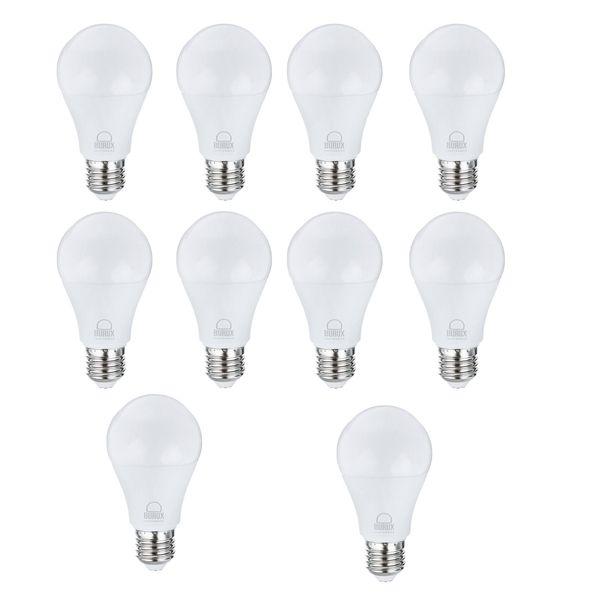 لامپ ال ای دی 10 وات بروکس مدل 5322-A60 پایه E27 بسته 10 عددی