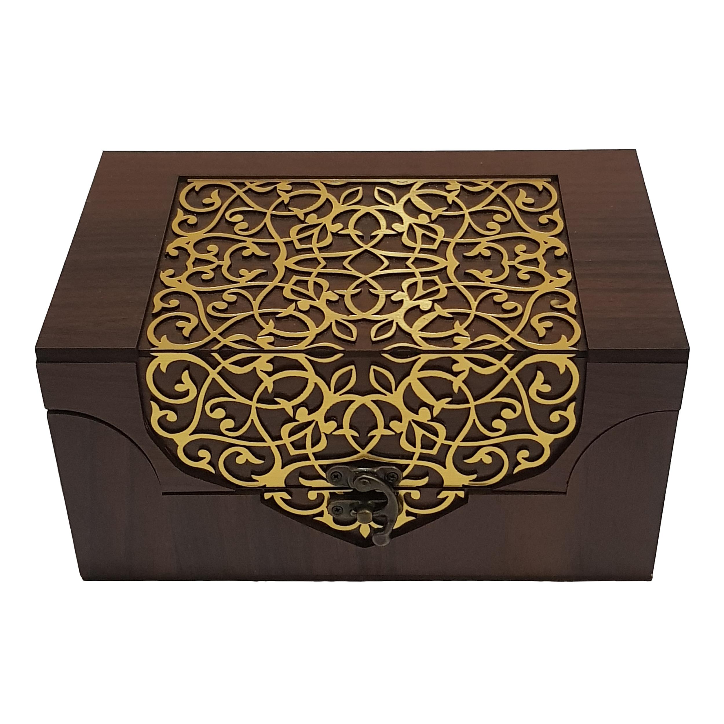 جعبه چای و دمنوش مدل ثمین