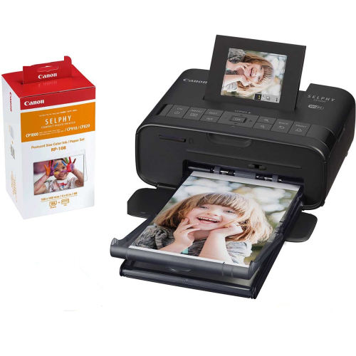 پرینتر چاپ عکس بی سیم کانن مدل SELPHY CP1200 به همراه 1 عدد کارتریج کانن مدل RP-108