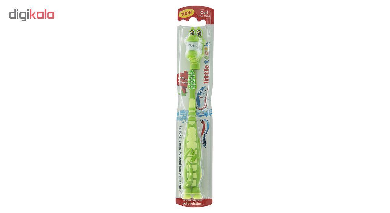مسواک کودک آکوافرش مدل Curt 3-5 Years با برس نرم  Aquafresh Curt 3-5 Years Soft Toothbrush