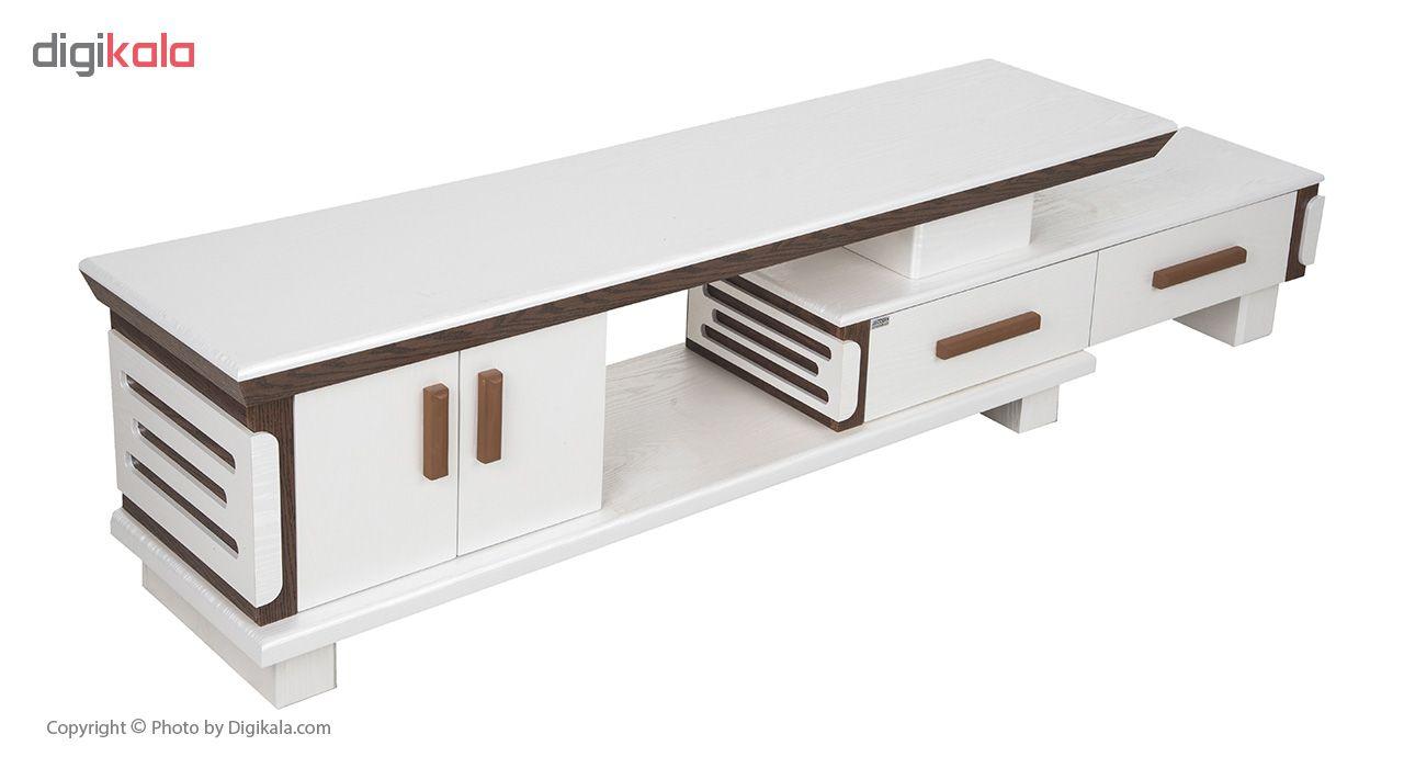 میز تلویزیون مدرن چوب کد 490 رنگ صدفی