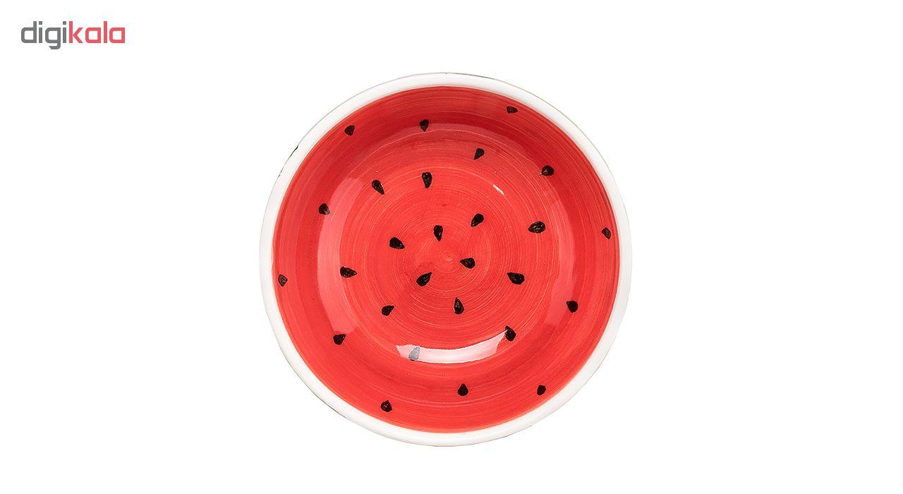 ظرف سرو پرانی طرح هندوانه مدل 120 سایز کوچک