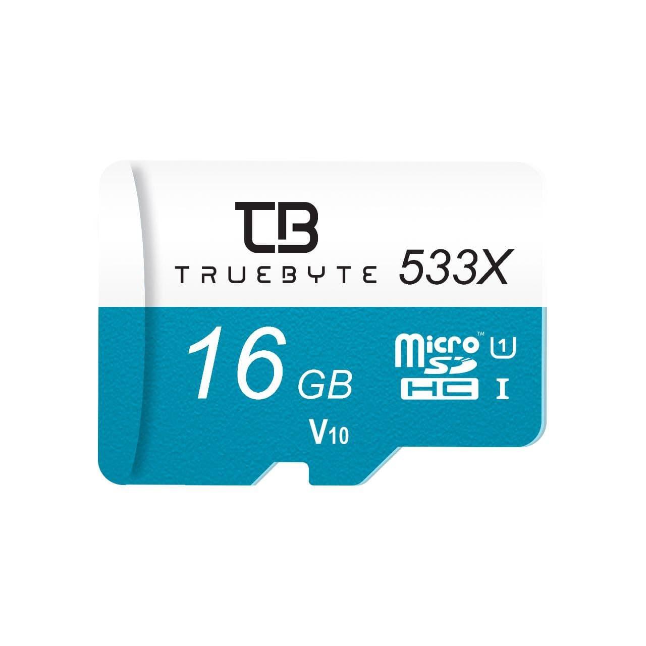 کارت حافظه microSD HC تروبایت مدل 533X V30 کلاس 10 استاندارد UHS-I U1 ظرفیت 16 گیگابایت
