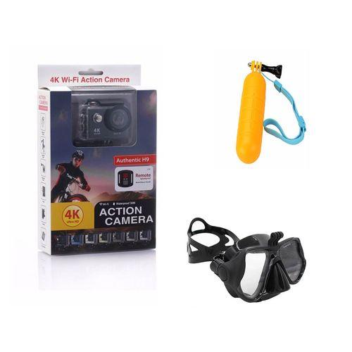 دوربین ورزشی اکشن کمرا مدل H9 بهمراه پک قواصی