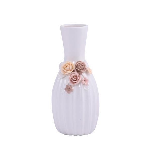 گلدان دکوری مدل گل برجسته 04