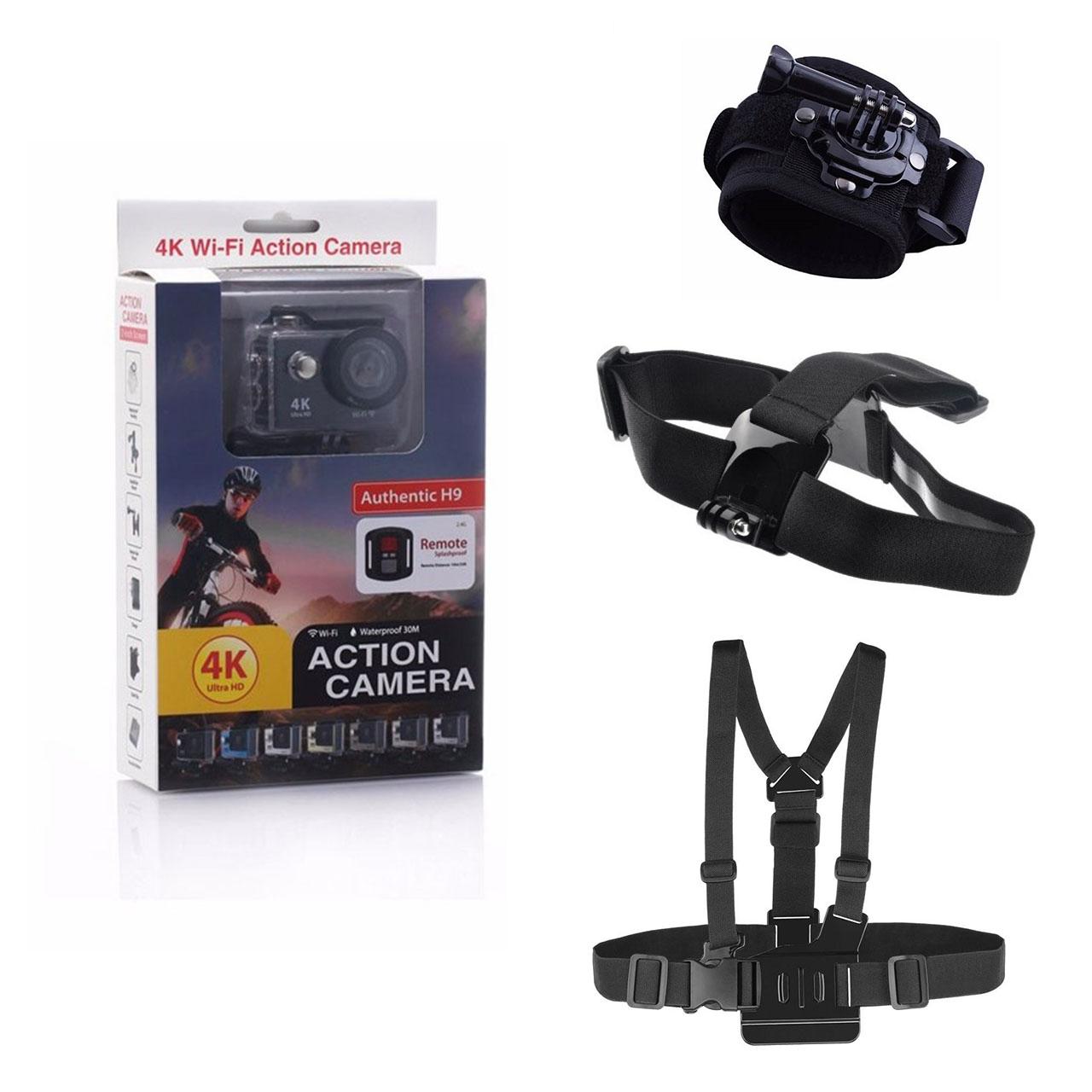 دوربین ورزشی اکشن کمرا مدل H9 با اتصالات اضافی