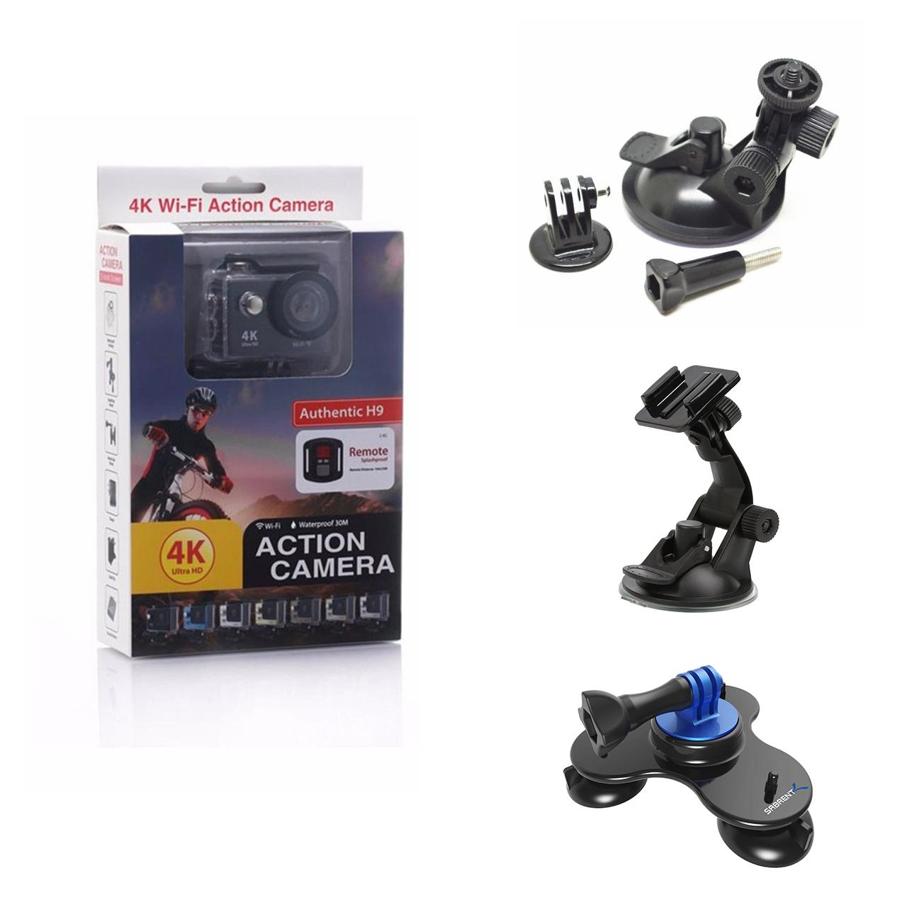 دوربین ورزشی اکشن کمرا مدل H9 به همراه گیره نگهدارنده