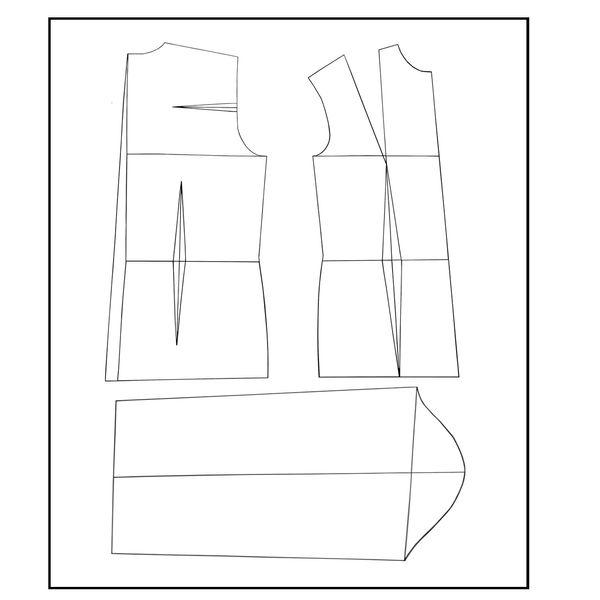 الگو خیاطی بالا تنه و آستین زنانه متد مولر سایز 54