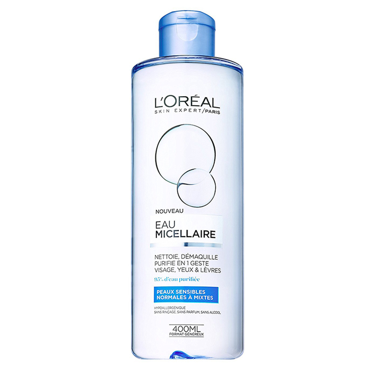 محلول پاک کننده لورآل مدل Normal to Combination Skin حجم 400 میلی لیتر