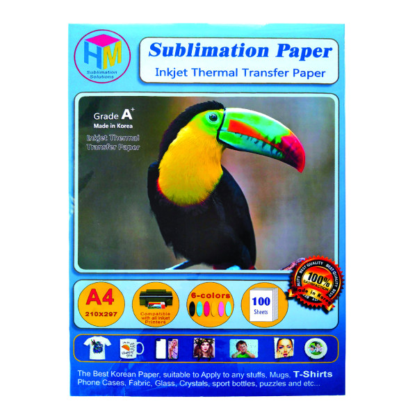 کاغذ سابلیمیشن اچ ام کد IP-4002-2 سایز A4 بسته 100 عددی