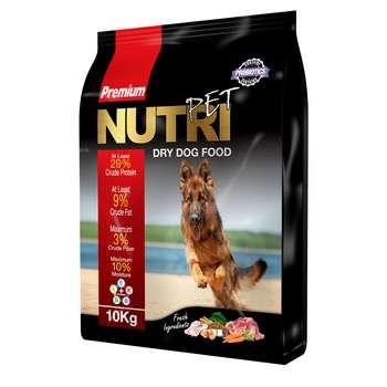 غذای خشک پروبیوتیک سگ نوتری پت مدل Premium 29 Percent مقدار 10 کیلوگرم   Nutri Pet Premium 29 Percent Probiotic Dry Dog Food 10kg