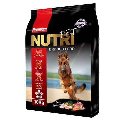 غذای خشک پروبیوتیک سگ نوتری پت مدل Premium 29 Percent مقدار 10 کیلوگرم
