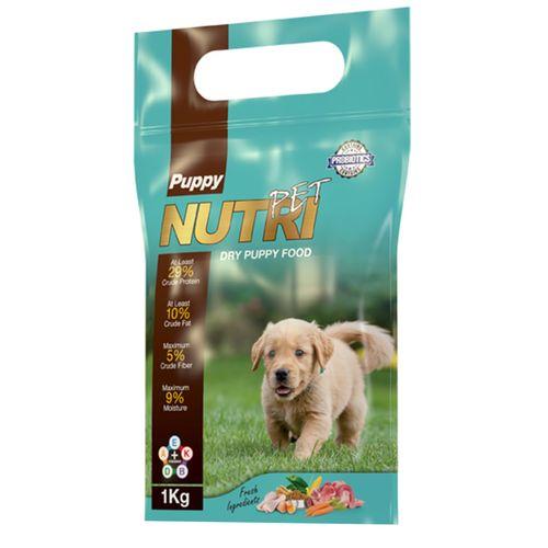 غذای خشک پروبیوتیک توله سگ نوتری پت مدل Puppy مقدار 1 کیلوگرم