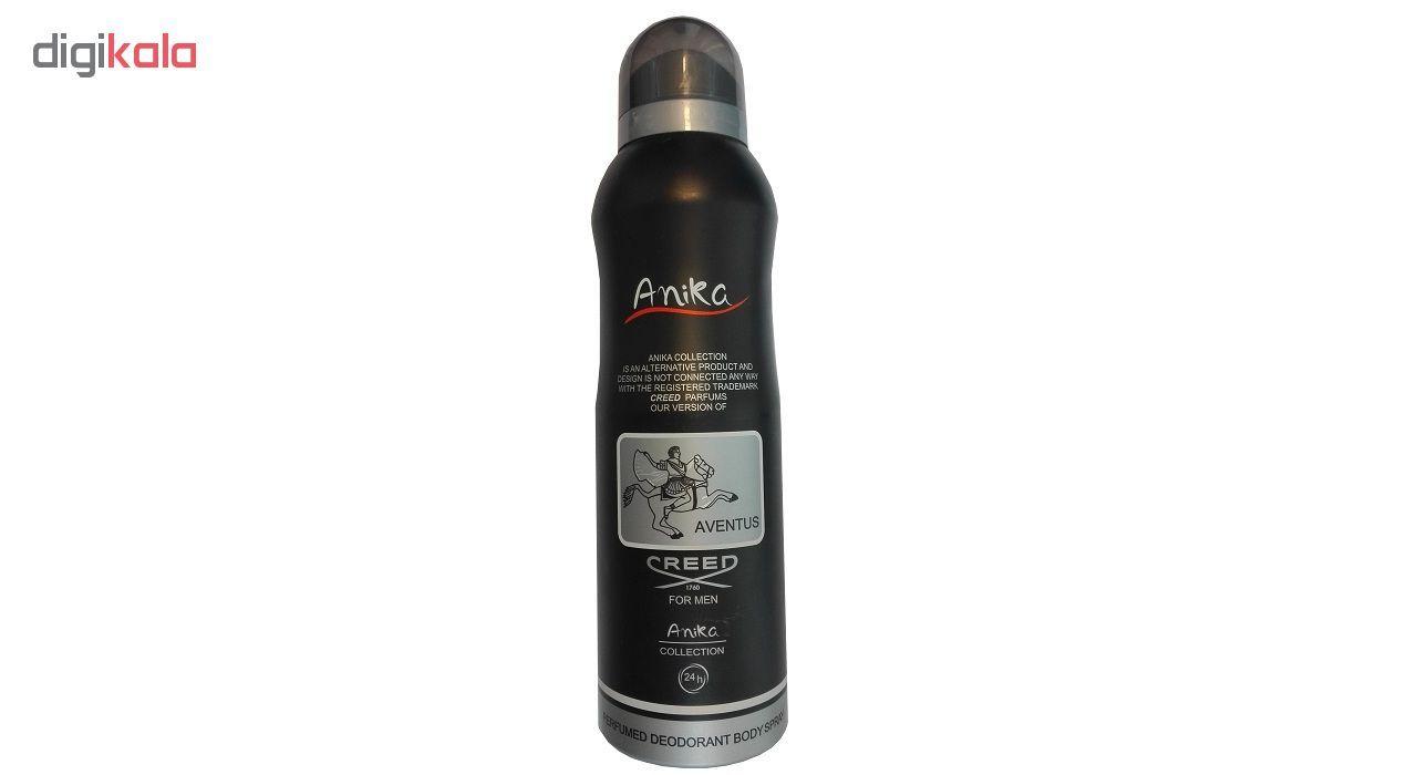 اسپری بدن مردانه آنیکا مدل Creed aventus حجم 200 میلی لیتر  Anika Creed aventus Body Spray For Men