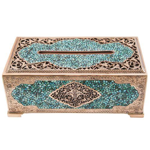جعبه دستمال کاغذی فیروزهکوب کد 123061