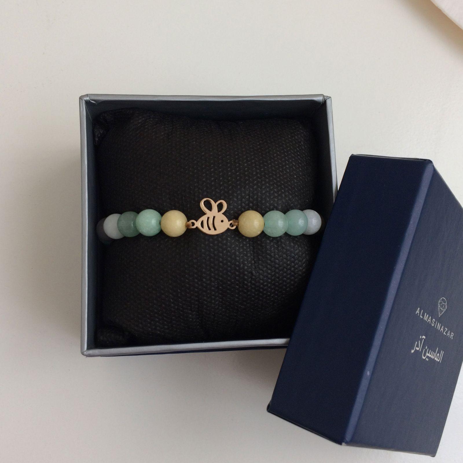 دستبند طلا 18 عیار زنانه الماسین آذر کد ZANBUR01 -  - 3