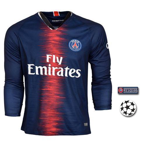 پیراهن ورزشی طرح پاریسن ژرمن مدل Sl-Home18/19 به همراه تگ
