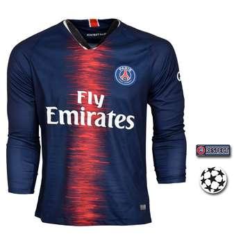 پیراهن ورزشی طرح نیمار مدل پاریس Sl-Home18/19 به همراه تگ |