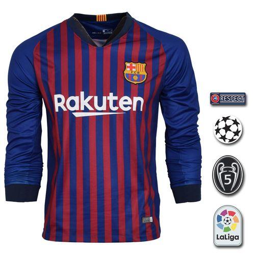 پیراهن ورزشی طرح مسی مدل بارسلونا Sl-Home18/19 به همراه تگ