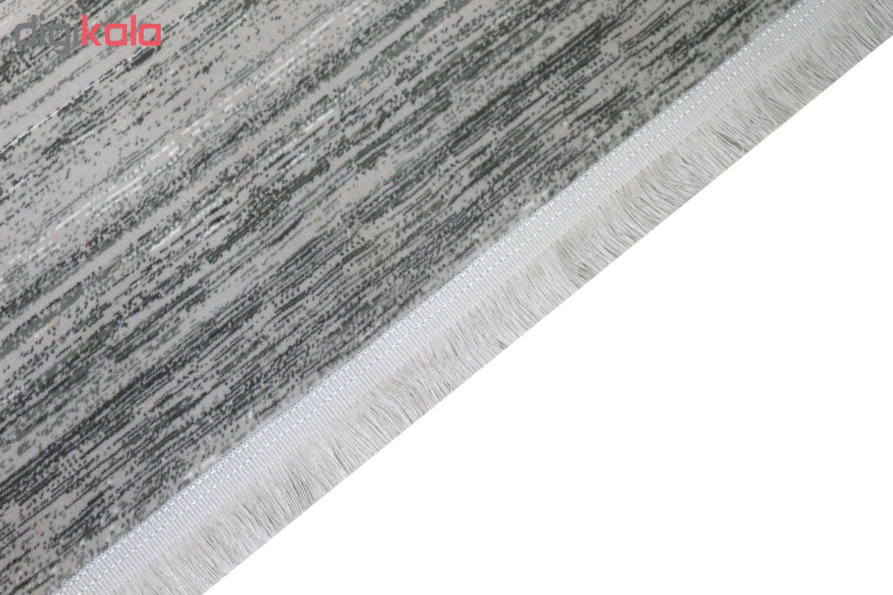 فرش ماشینی فرش رادین طرح گبه 14 رنگ زمینه طوسی