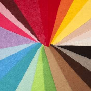بسته ی 20 رنگ نمد درجه یک هنری ساز کد 0125