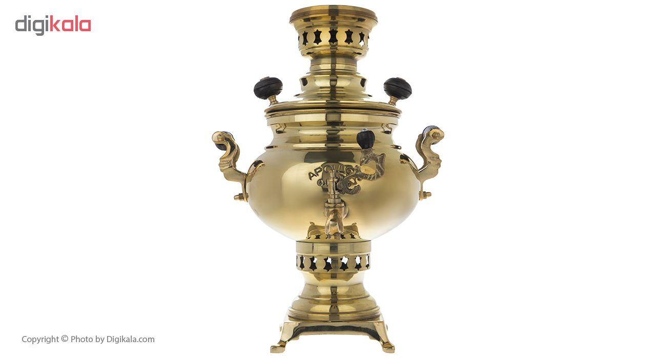 سماور زغالی آپولون مدل توپولون ساده ظرفیت 3 لیتر