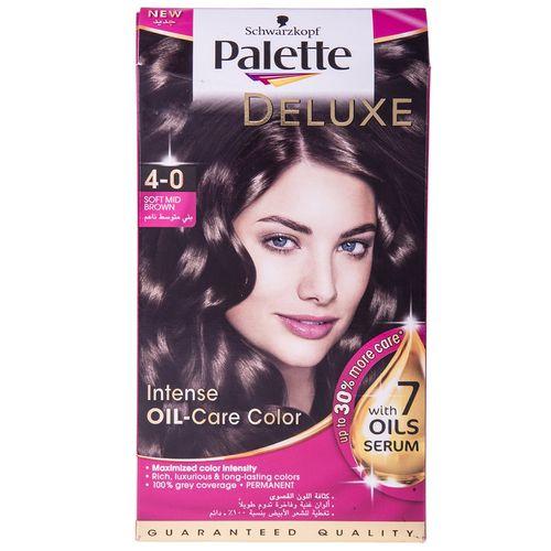 کیت رنگ مو پلت سری Deluxe مدل Soft Mid Brown شماره 0-4