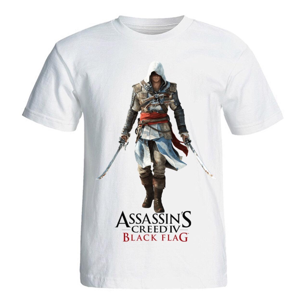 تی شرت مردانه سالامین طرح Assassins Creed Black Flag کد SA214