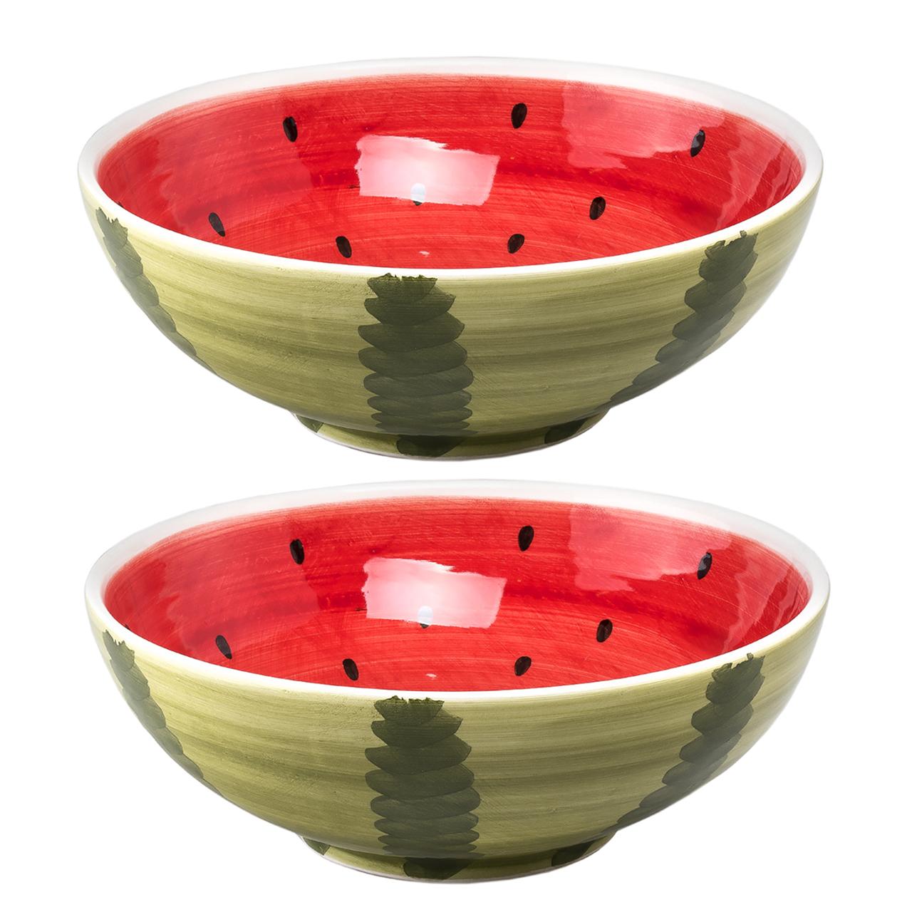 کاسه پرانی طرح هندوانه مدل 106 مجموعه دو عددی
