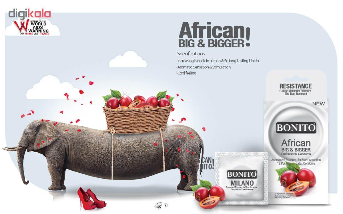 کاندم بزرگ کننده بونیتو مدل AFRICAN بسته 16 عددی