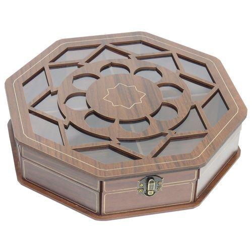 جعبه کادو دمنوش چایی کیسه ای آجیل لوکس باکس کد LB019
